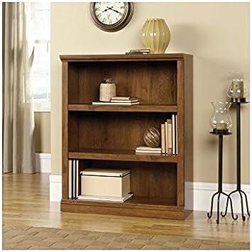 Pemberly Row 3 Shelf Bookcase in Oiled Oak