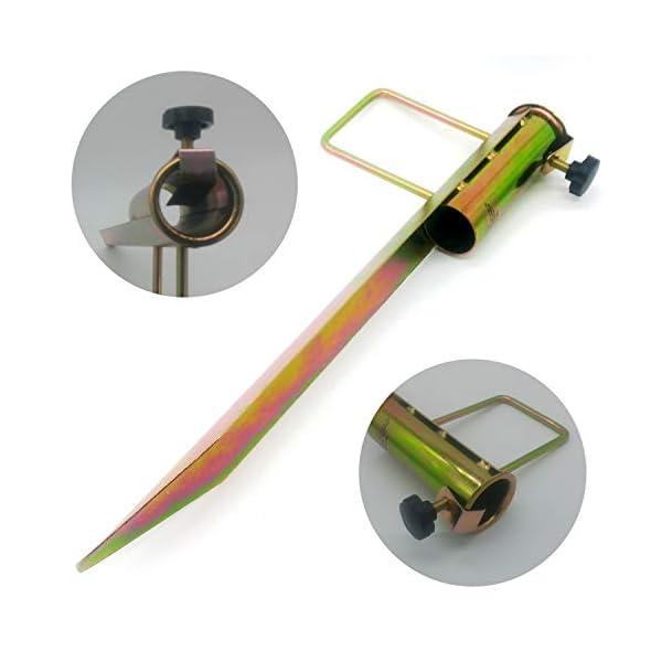Land-Haus-Shop®, picchetto di supporto per ombrellone o stendibiancheria, da piantare nel terreno, in lamiera di acciaio… 2 spesavip
