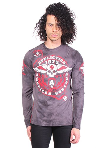 Affliction L/s Tees - Affliction AC Smash Oil Spill L/S T-shirt S