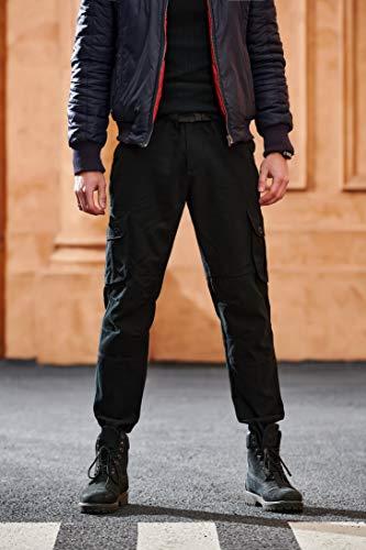 Hommes Pantalon Cargo Pantalon de Travail Style Militaire, Casual Pantalon Multi Poche Cargo Sports De Combat Pantalons…