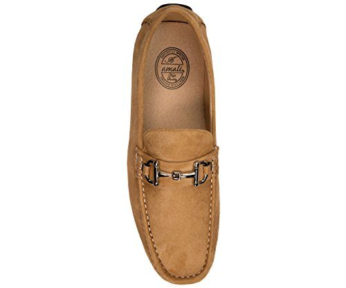 Driving Microfiber Faux On Shoe Amali with Buckle Taupe Slip Loafer Plush Suede Mens gSW6Aa64f