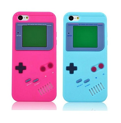 Newstore iPhone 6 Case ,Nintendo Classic Gameboy Game boy Case Cover Soft Rubber Gel For New Apple iPhone 6 6G 4.7 inch Bundle Pack (x2)Light Blue,Hot (Blue Soft Rubber)
