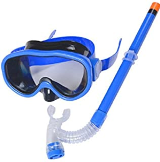 Kids Silicone Scuba Swimming Swim Diving Mask Snorkel Glasses Set Anti Fog Goggles