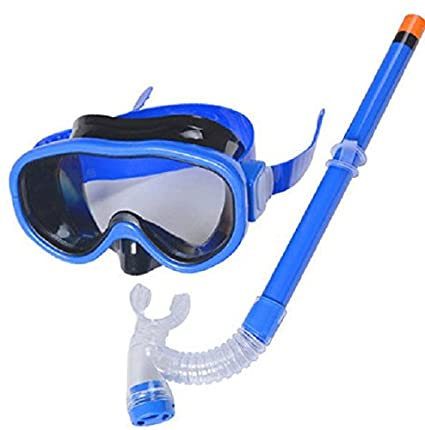 c276937922a YITU Kids Silicone Scuba Swimming Swim Diving Mask Snorkel Glasses Set Anti  Fog Goggles (Blue
