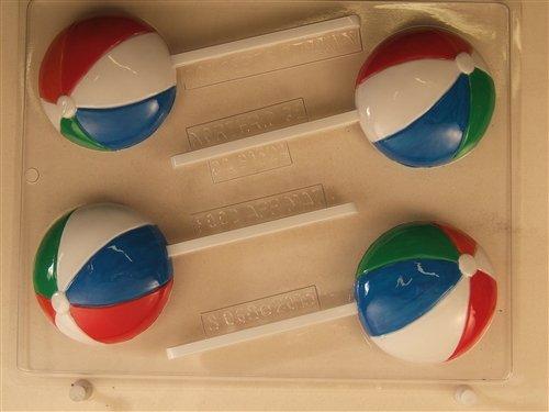 Beach Ball Chocolate Lollipop Candy Mold S068 Sports Chocolate Candy Mold (Beach Ball Chocolate Mold)