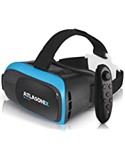 VR Headset Compatible with iPhone and Android Phones   VR Set Incl. Remote Control for Android Smartphones   3D Virtual Reality Goggles w/Controller   Adjustable VR Glasses - Gift for Kids and Adults