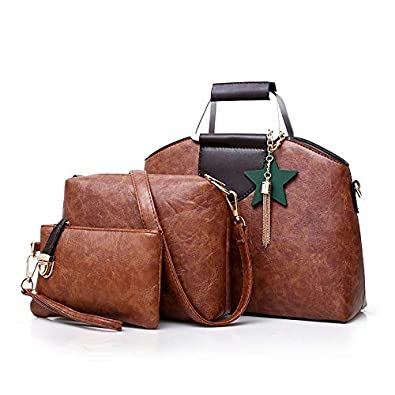 6b9dace34af1 3Pcs Bag Sets Luxury PU Leather Handbags cheap Women top-handle Bags  Designer Female Shoulder