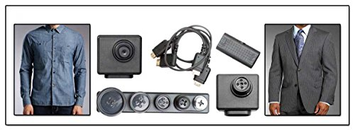 LawMate CMD-BU13LX Low Light HD Covert Video Button Camera Kit