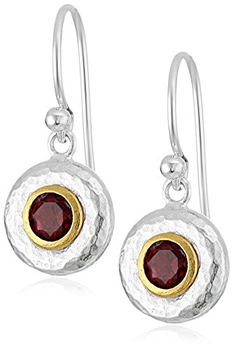 GURHAN ''Droplet'' Sterling Silver Garnet Hook Drop Earrings by Gurhan
