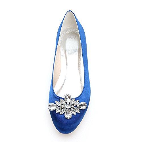 L@YC Zapatos De Boda Para Mujer 9872-12 Pisos De Punta Redonda Zapatos De Boda / De Fiesta Y De Noche MáS Colores Disponibles Champagne