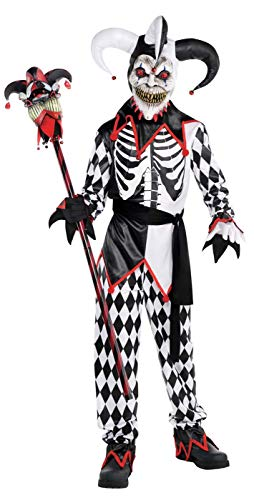 Evil Halloween Tricks (AMSCAN Sinister Jester Halloween Costume for Boys, Medium, with Included)