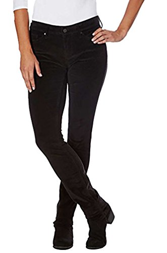 (Calvin Klein Jeans Black Women's Ultimate Skinny Power Stretch Corduroy Pant 10x30)