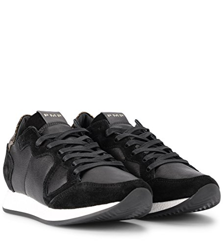 and PHILIPPE Leather MODEL Sneaker Black Monaco 41 Black EU Golden 9½ Woman's US frqIwgYBxr