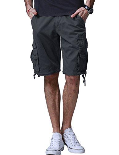 Match Men's Twill Comfort Cargo Short Without Belt #S3612 (Label size M/30 (US 29), Dark gray)