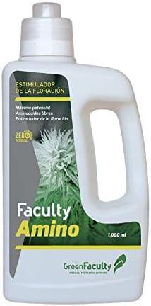 GreenFaculty Fertilizante Abono - Faculty Amino: AMINOACIDOS ECOLÓGICOS. POTENCIADOR FLORACIÓN. Líquido. Cero Residuos, Apto para Cultivo Medicinal… (1 l)