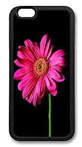 iPhone 6 4.7 Cases, Hot Pink Gerber Daisy Durable Soft Slim TPU Case Cover for 6 4.7 inch Screen (Does NOT fit iPhone 6 4.7 6 4.7 6 4.7 or iPhone 6 4.7 - TPU Black