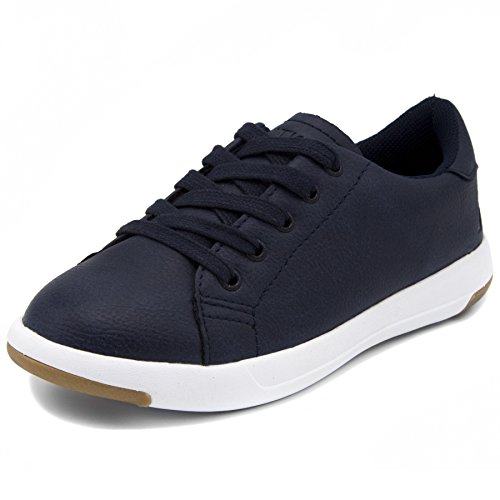Nautica Kids Inboard Sneaker-Lace up Fashion Shoe-Navy Smooth-3