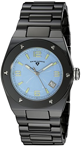 (Swiss Legend Women's 10054-BKBLTSA Throttle Analog Display Swiss Quartz Black Watch)