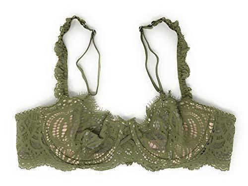 (Victoria's Secret Dream Angels Wicked Unlined Uplift Bra Olive Green 34DD)