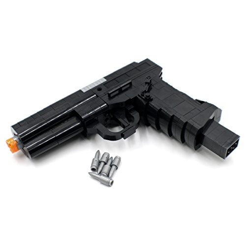 - Shantou Blocks Semi-Automatic Service Pistol Model - Building Block Toy Gun