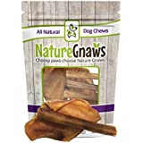 Nature Gnaws Pig Ears & Bully Sticks Combo (6 Count) - 100% Natural Dog Chew Treats