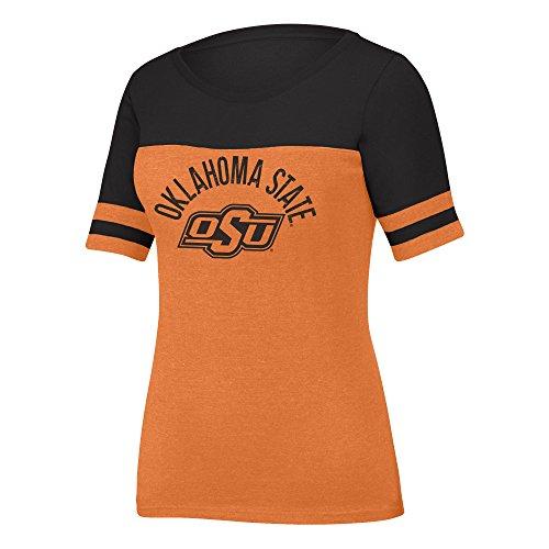 Osu Stadium - NCAA Oklahoma State Cowboys Women's Stadium Tee, X-Large, Orange/Black