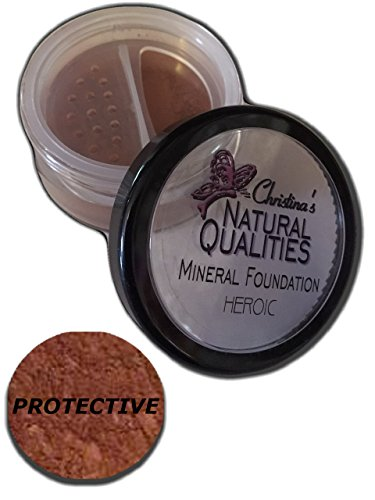 Christina's Natural Qualities Mineral Dark Powder Foundation With Botanicals For Women of Color - Protective