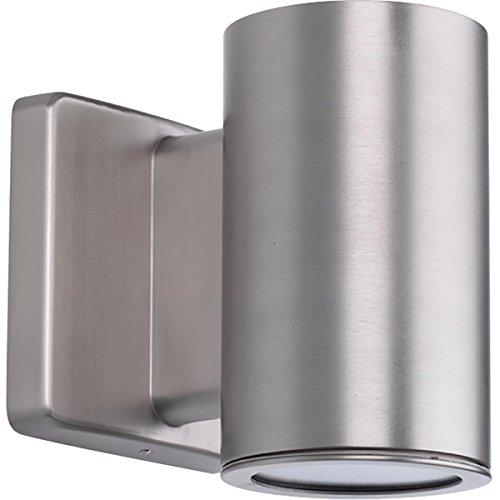 Progress Lighting P563000-147-30K 3IN Cylinders Wall Lantern, Grey by Progress Lighting
