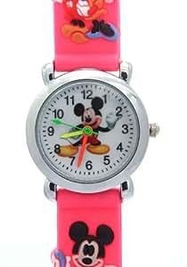 Dibujos de Disney Relojes Correa rosa de dibujos Mickey y Minnie Patrón