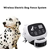 Qiaostore Wireless Electric Dog Fence System Outdoor Invisible Pet Fence, 550YD Remote Control