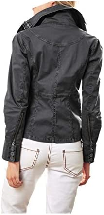 Best Connections Damen Jacke Kurz Jacke Bikerstil