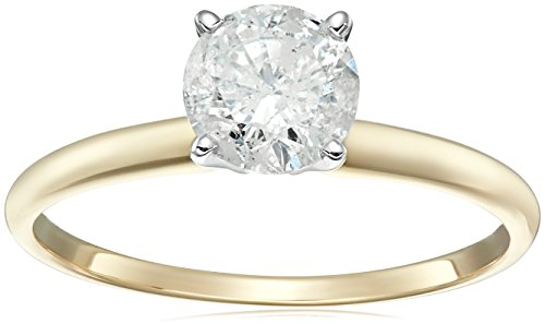 Round Solitaire Yellow Engagement Clarity