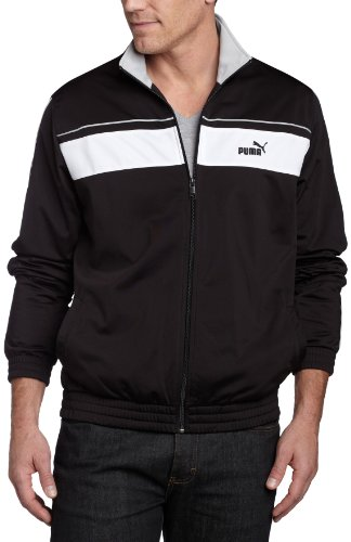 PUMA Men's Agile Track Jacket, Black/White/High - Mens Agile Track