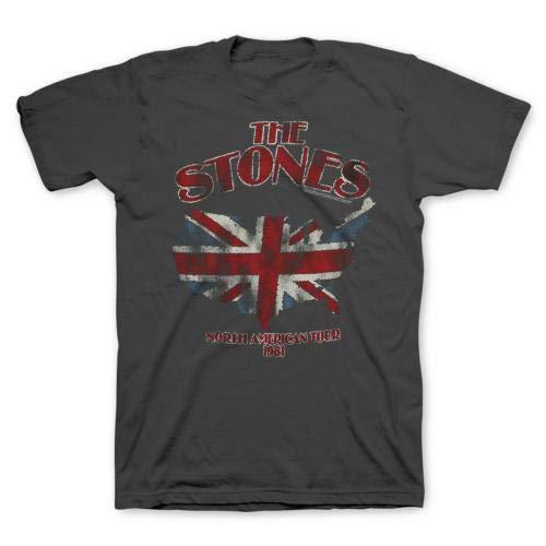 Bravado  Rolling Stones North America Tour 81 Soft Adult T-Shirt Grey Medium