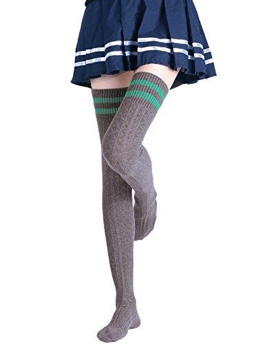 del maglia Calze e lavorate Jelinda Grigio a scuro per donne stile ragazze lo sopra Collant ginocchio Sport p7WfWwgq4