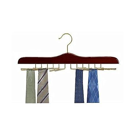 Amazon.com: Tie colgadero/nogal & latón: Home & Kitchen