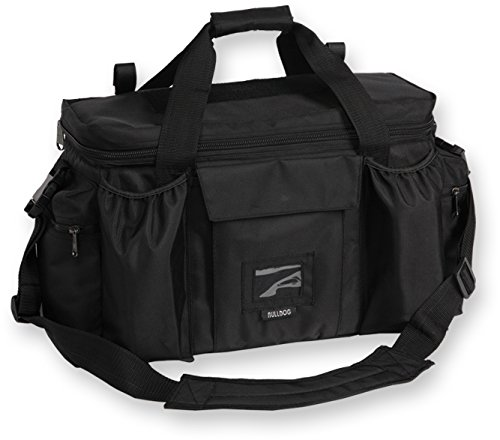 Bulldog Cases Extra Large Deluxe Black Police & Shooters Range Bag with - Large Pistol Extra