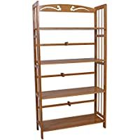 Bamboo 4-Shelf Bookcase, Natural