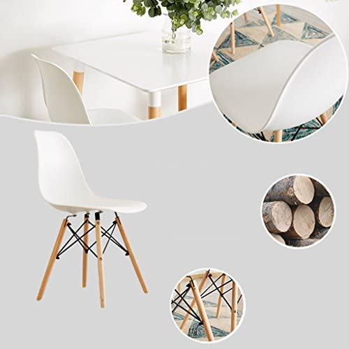 Chaise de salle à manger SLL en plastique pour adulte, chaise moderne (couleur : C)