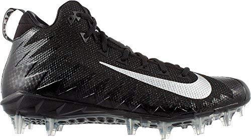 83057d8e6e5f Nike Men's Alpha Menace Pro Mid Football Cleats (10.5, Black/White)