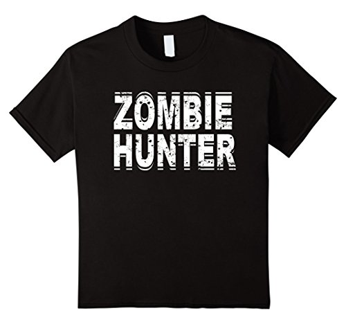Kids Zombie Hunter T Shirt Scary Halloween Costume 8 Black