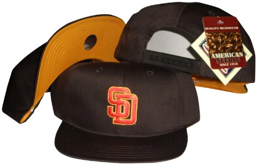 San Diego Padres Brown Snapback Adjustable Plastic Snap Back Hat/Cap (Retro Sports San Diego)