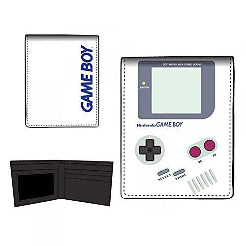 Nintendo Game Boy Bi-Fold Wallet, Gray, One Size