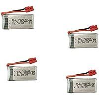 UUMART 4pcs 3.7V 380mah Lithium Battery for Syma X15 X15C X15W X5A-1 RC Quadcopter Spare Parts