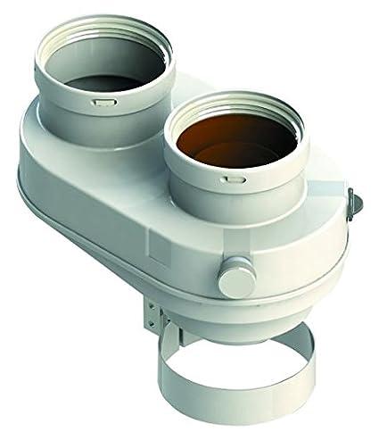 Bifurcador Kit Tubo coaxial 60 100 A 80 calentador Caldera Condensación Bifurcador humo aire