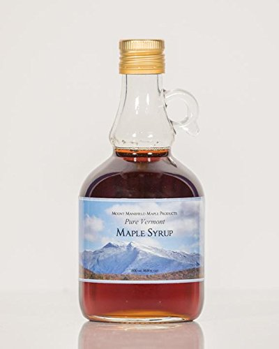 Mansfield Maple Pure Vermont Maple Syrup Golden Delicate (Vermont Fancy), 500ml Glass Bottle