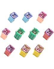 10 Pack!! 2 of each - 20amp 30amp 40amp 50amp 60amp Automotive Low Profile Mini J Case Fuses Compatible for Ford, Chevy/GM Nissan Toyota Hyundai Kia Honda - Pickup Trucks, Cars & SUVs