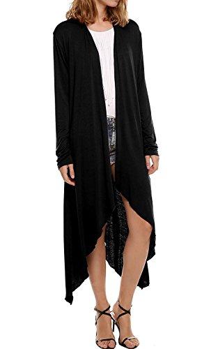 Veste en Longue Asym Pull Maxi Manteau Tricot Cardigan Uni Femme Vintage Manche Longue Oversize AXI5qOxwH