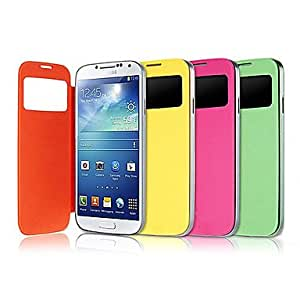 HJZ Original PU Leather Full Body Case for Samsung S4 i9500(Assorted Color) , Yellow