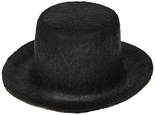 Darice, 3 Inch Felt Top Hat, Black -